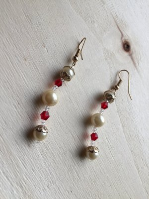 Earring natural white-sand brown