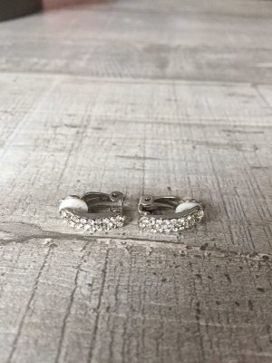 Earclip silver-colored-white metal