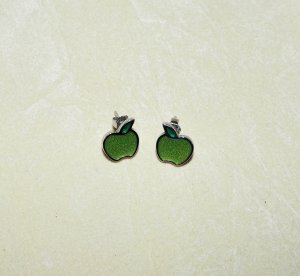 Ohrringe Apfel Damen Swatch grün silber