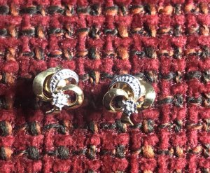 Ear stud gold-colored-silver-colored