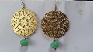 Ohrringe aus Indien - Gold mit Türkisen Stein