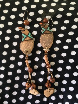 Ohrringe aus Kokosnussschale