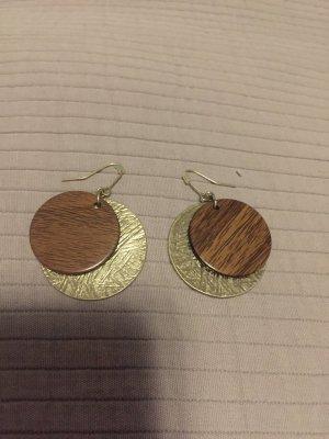 Ohrringe aus Metal/Holz