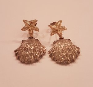 Silver Earrings silver-colored-gold-colored real silver