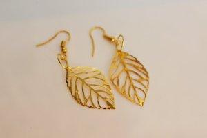 Ohrringe Blätter Gold Leaves Palmen Blogger