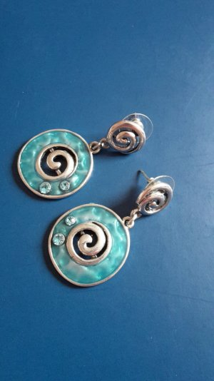 Ohrringe - blau/silber farben