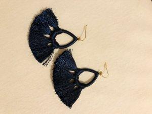 Ohrringe blaue Puschel