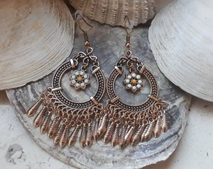 Ohrringe Boho Bohemian Statement Gold
