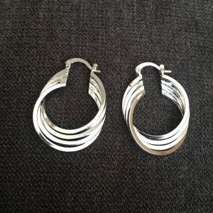 Ohrringe Creolen 925 gestempelt Silber plattiert