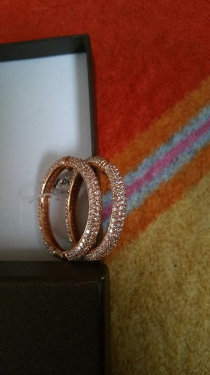 Ohrringe Creolen 925 Silber + vergoldet