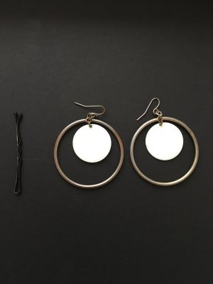 Accessorize Statement Earrings gold-colored-natural white