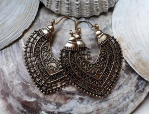 Statement Earrings gold-colored