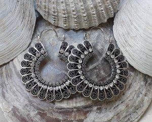Ohrringe Creolen für Tunnel Boho Silber Statement