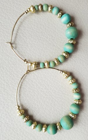 Accessorize Ear Hoops gold-colored-turquoise