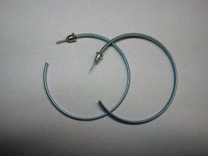 Ohrringe Creolen metallic blau