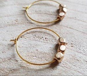 Bid Handmade Pendientes de oro color oro