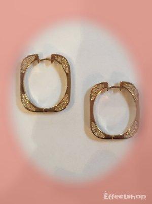 Ohrringe Creolen von Ricarda M. gold-farben mit Strass