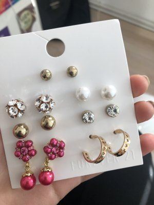 Forever 21 Pendientes de perlas multicolor