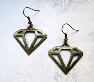Ohrringe Diamant Vintage