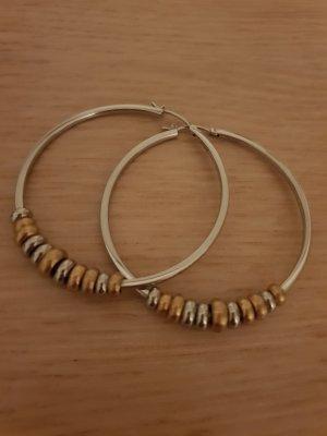 DKNY Orecchino a cerchio argento-oro