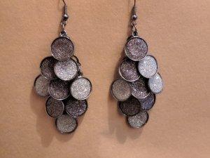 Bijou Brigitte Statement Earrings silver-colored-grey
