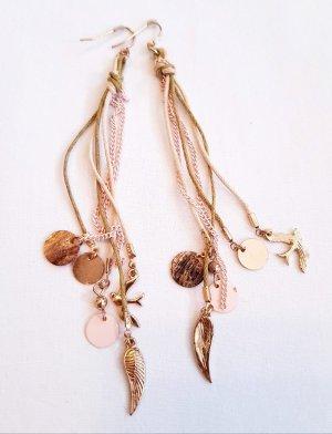 Ohrringe fein gold rosa Leder angesagt neu