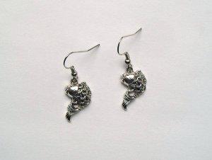 Ohrringe Fische Silberfarben