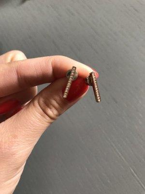 Ohrringe Fossil Glitzer Stäbe