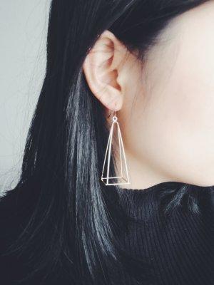 Ohrringe Geometrisch Statement Blogger minimalistisch urban gold voo