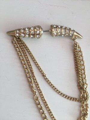 Ohrringe Gold bieten Glitzer Strass stacheln