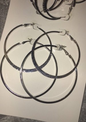 Silver Earrings light grey