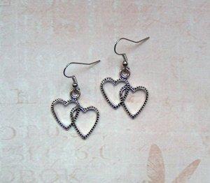 Ohrringe Herzen Silberfarben