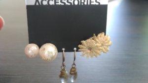 Ohrringe im Set 3 Paar Blume Blüte Perle