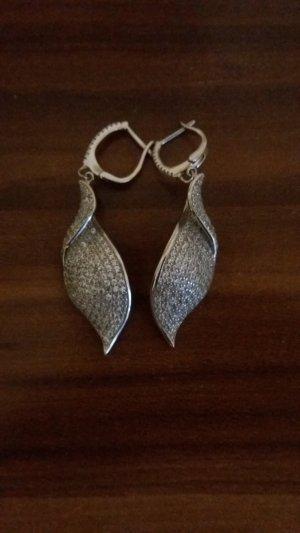 Orecchino a pendente argento-grigio