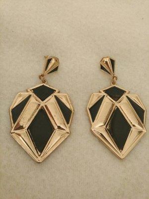 Ohrringe in gold und schwarz NEU und ungetragen!