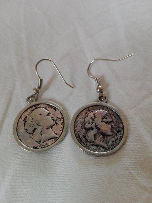 Ohrringe in Münzenform, Neu