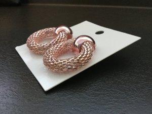 H&M Earring dusky pink-pink metal