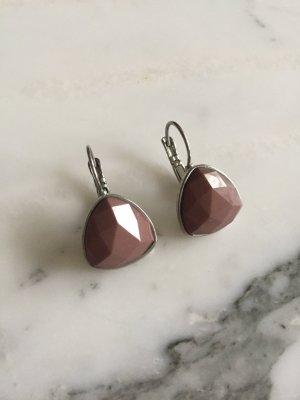 Ohrringe in silber und violett