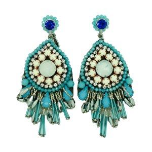 Ohrringe in sommerlichen Blautönen