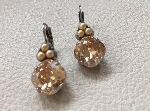 Ohrringe Kristall und Perlen