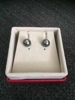 Pendientes de perlas negro
