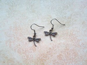 Ohrringe Libelle Silberfarben