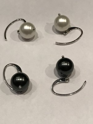Pearl Earring anthracite-white