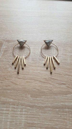 Ohrringe Marmor Optik