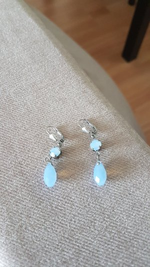 Dangle silver-colored-light blue