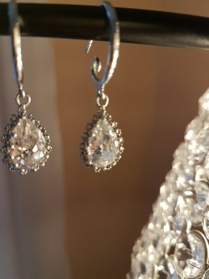 Ohrringe mit  Kristall  Stein   Neu