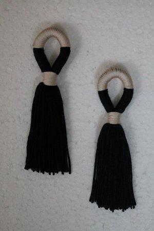 Oorbellen zwart-wit