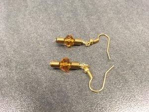 Ohrringe mit #Swarovski Crystal und Hämatit #Edelstein In Gold & Bernstein