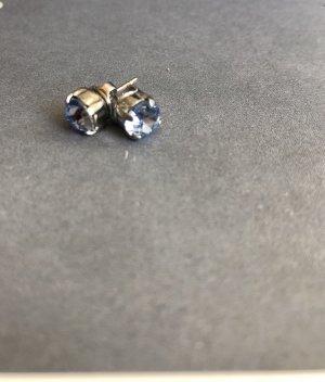 Ear stud silver-colored-cornflower blue