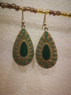 Ohrringe Modeschmuck gold/grün
